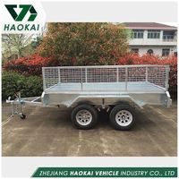Hot selling fine quality dual axles cage trailer from manufacturer