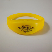 In Stock, Motion Sensor Silicone Personalized LED Bracelets for big concert