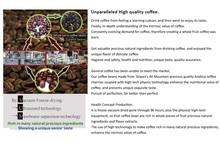 Enhance the value of high quality green coffee beans.