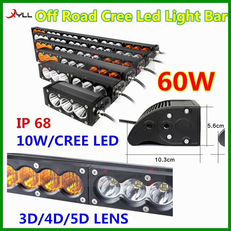 4x4 accessories off road amber led light bar combination emergency driving lightbar 10-30v DC