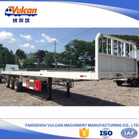 Supplier new 3 axle flatbed car trailer for sale