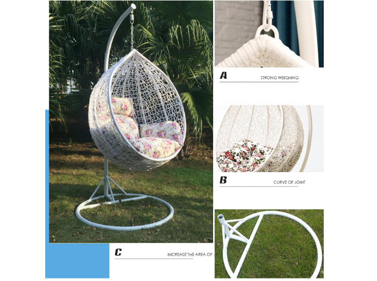 Wholesale Outdoor Round Rattan Swing Hanging Egg Chair