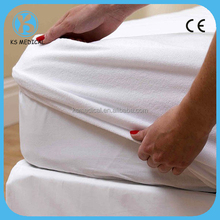 White cotton textile fabric for baby bed bug cover