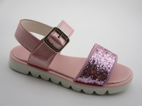 Pink Handmade sequins adult baby sandal shoes