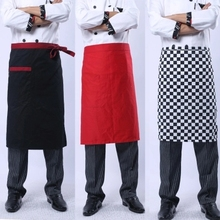 Juqian factory price cheap bulk kinds cotton kitchen hotel chef uniform apron designs