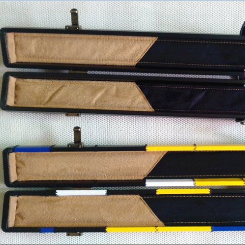 Customed PU Snooker Pool Cue Case with 2-PC