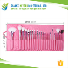 22pcs amien Professional Soft Cosmetic makeup Brush Set Pink+Pouch Bag