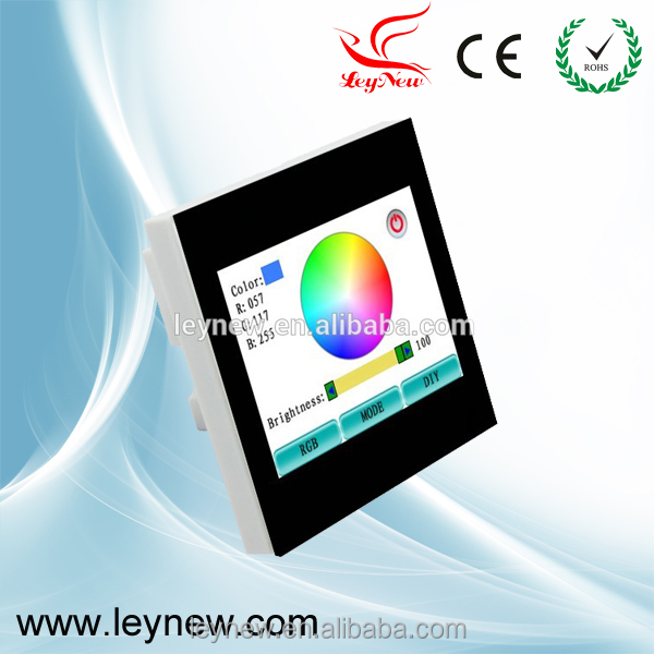 Newest Leynew RGB led smart touch screen controller TS100 and TS100E for European standard control