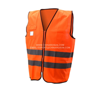 100% polyester fabric with breathable for summer reflective vest with ZAPANSI 20741