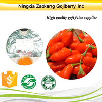 hot 2016 sales Zokang origional goji juice 100%pure ningxia goji berry juice concentrate
