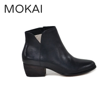 MK2063-1 black 2017 low heel shoes ankle boots for women chelsea boots