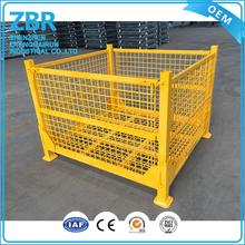 folding mesh metal container warehouse foldable steel galvanized storage stillage cage