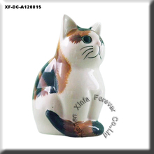hand painting animal ceramic japanese moggie figurine