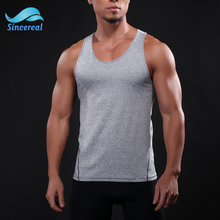 Sleeveless Design Tank Top Quick Dry Sport Man Gym Vest with Breathable Feature