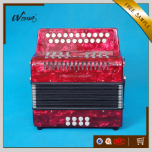 High Grade 21K8B Diatonic Celluloid Button Accordion With Cagnoni Reeds