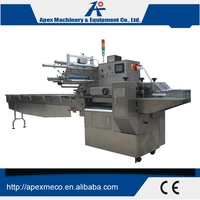 Automatic Biscuit Chocolate Bread Food Pillow Packing Machine, Horizontal Flow Packing Machine