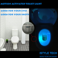 Best Price Motion Activated Illumibowl Toilet Sensor LED Night Light with Free Shiping