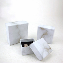 Marble pattern jewelry earring necklace set box