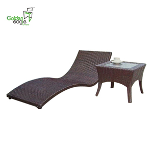 New Arrival Indoor Pool Furniture Stackable Sun Lounger Rattan Sun Lounge with Wheels