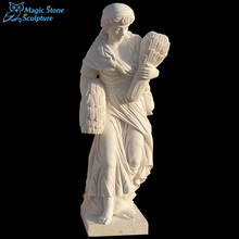 Cheap hot sale hand craved stone action figure statue