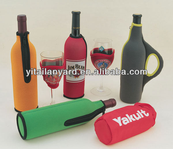 Wine Neoprene Bottle Cooler for sedex - 4 pillar