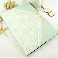 Good quality flower pattern leather smart case for ipad 2/3/4