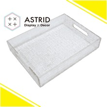 AAZ050T1S Transparnet special acrylic plastic desk organizer file tray for office