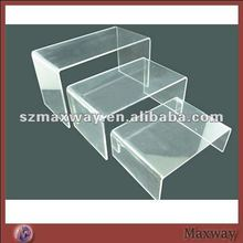 Handy Crystal Rectanglular Combined Acrylic Lucite Shoes Rack Riser