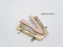 Wholesale Popular Alloy Metal Rhinestone Ladies Footwear Accessories