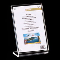 2016 New Display Product Customized Advertising Acrylic Sign Holder A4 Photo Frame Stand