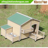 Wooden Pet Home with Balcony Pet House