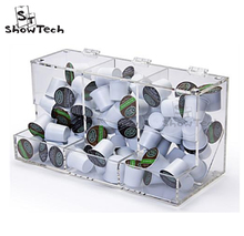 Special style acrylic candy box display rack for 3 compartments in store , shop