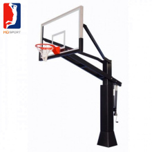 Inground Adjustable Basketball Hoop with heavy duty rim and clear view glass basketball backboard