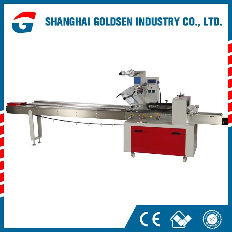 Hot selling flow pack biscuit pillow packaging machine,flow wrapping packing machine,plastic film packaging machine