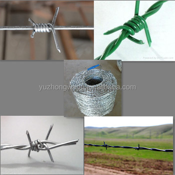 GALVANIZED AND PVC COATED BARBED WIRE WEIGHT FOR SALE WITH CHEAP PRICE