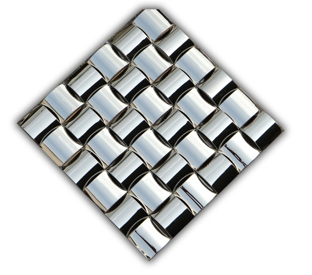 Luxury European Style Metal Mosaic Tile For Hotel Lobby Wall Decoration