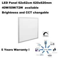 0-10V 2.4G RF IR DALI TRIAC WIFI ZIGBEE 620x620mm 62x62cm led panel ceiling light 24x24 inch for kitchen