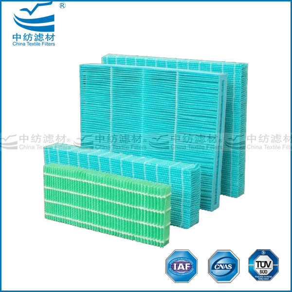 Replacement evaporative cooling pad humidifier wick filter