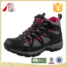 low moq fashion quality cow leather hiking shoes for women