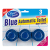 Blue automatic toilet bowl tablet