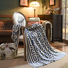 New Jacquard Thread Cotton Geometric Figure Knitting Blanket