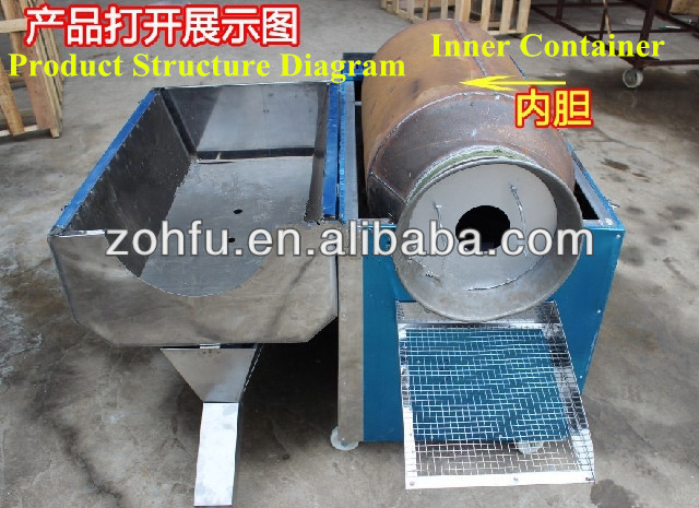 food grade stainless steel roasting machine for nuts/automatic roaster machine/peanuts nuts roast machine