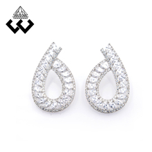 Best selling jewelry supplies silver color stud earring