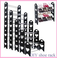 black color eco-friendly plastic small hanging shoe organizer