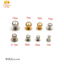 Brass hardware parts supplies decoration round head rivet and screw