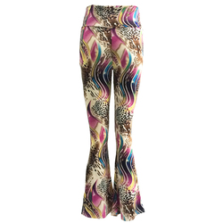New Women Ladies Printed Pattern PALAZZO Trousers Summer Wide Leg Casual Long Pants