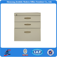 modern design,small steel movable pedestal/movable cabinet/mobile cabinet with three drawers