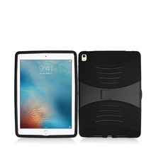 2016 lastest design armor kickstand pc silicone tablet case for ipad pro 9.7