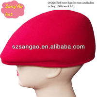 wholesale promotional Red wool beret hat man