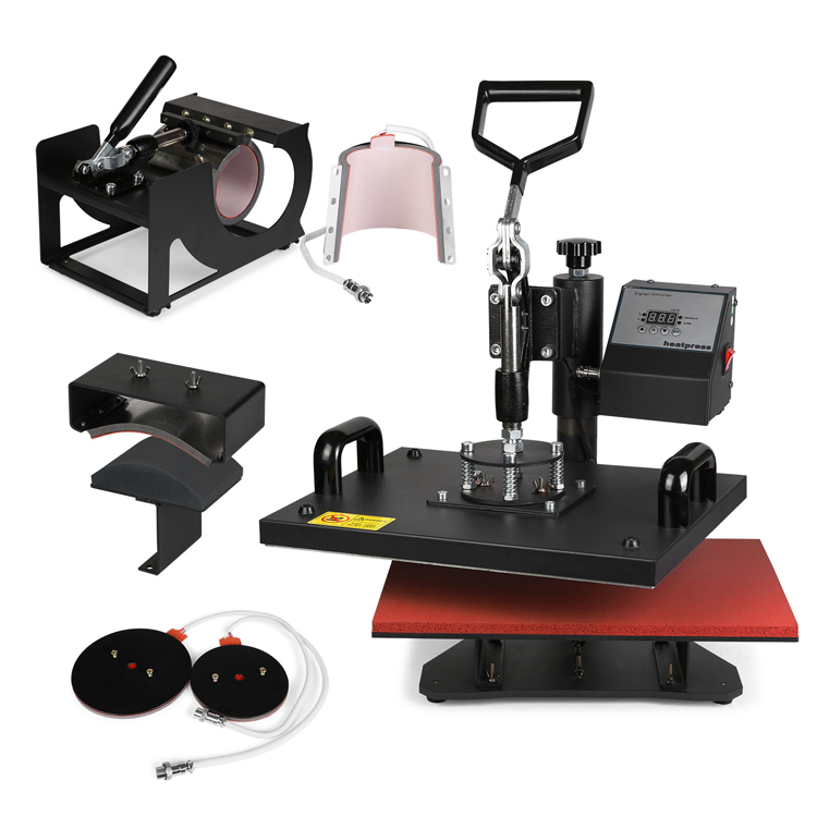 "6IN1 3d Heat Press Machine 15""<strong>X12</strong>"" (38X30cm) Heat Platen T- Shirt Sublimation Transfer Machine"